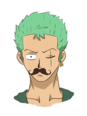 Moustache Zoro. by JellyPirate