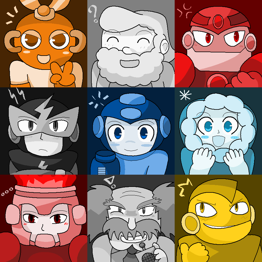 Mega Man 1: Stage Select by PuffyTrousers