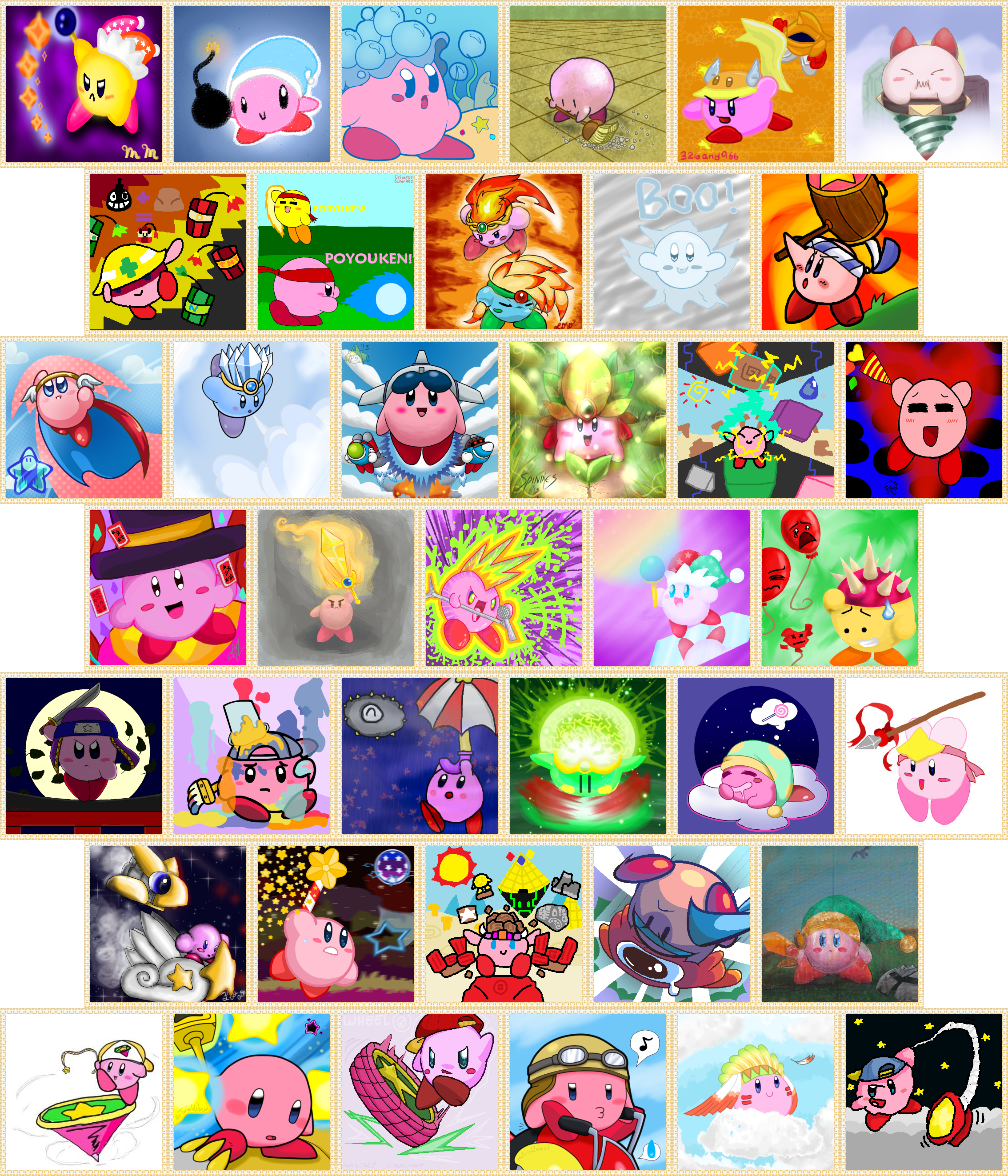 All Kirby Abilities