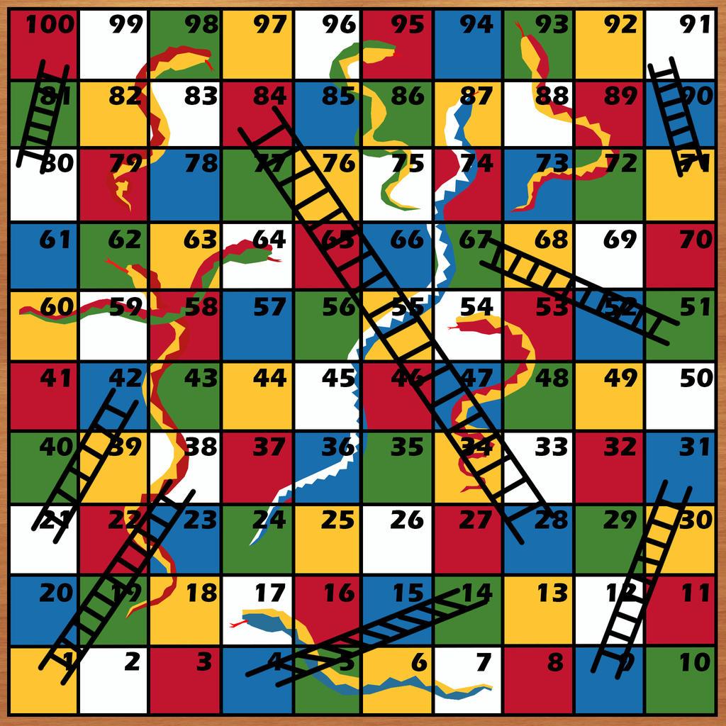 Snakes And Ladders Game Board by AvaruusTurri on DeviantArt