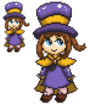 Hat Kid Pixel Art from A Hat in Time