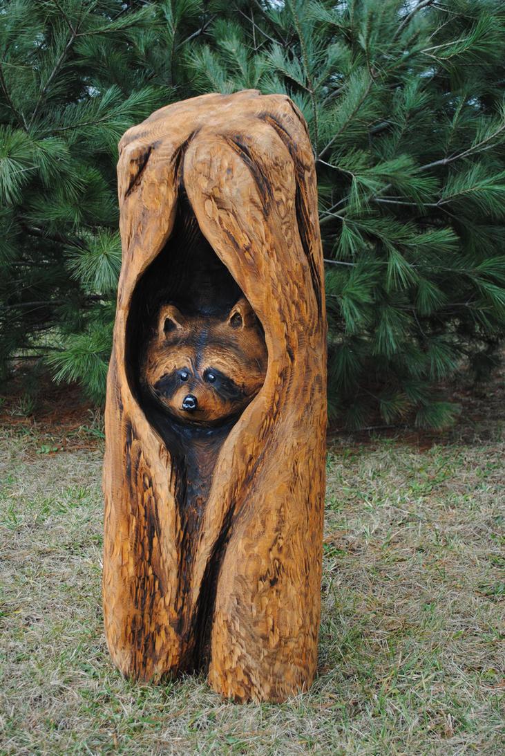 Peeking raccoon by kissel on deviantart