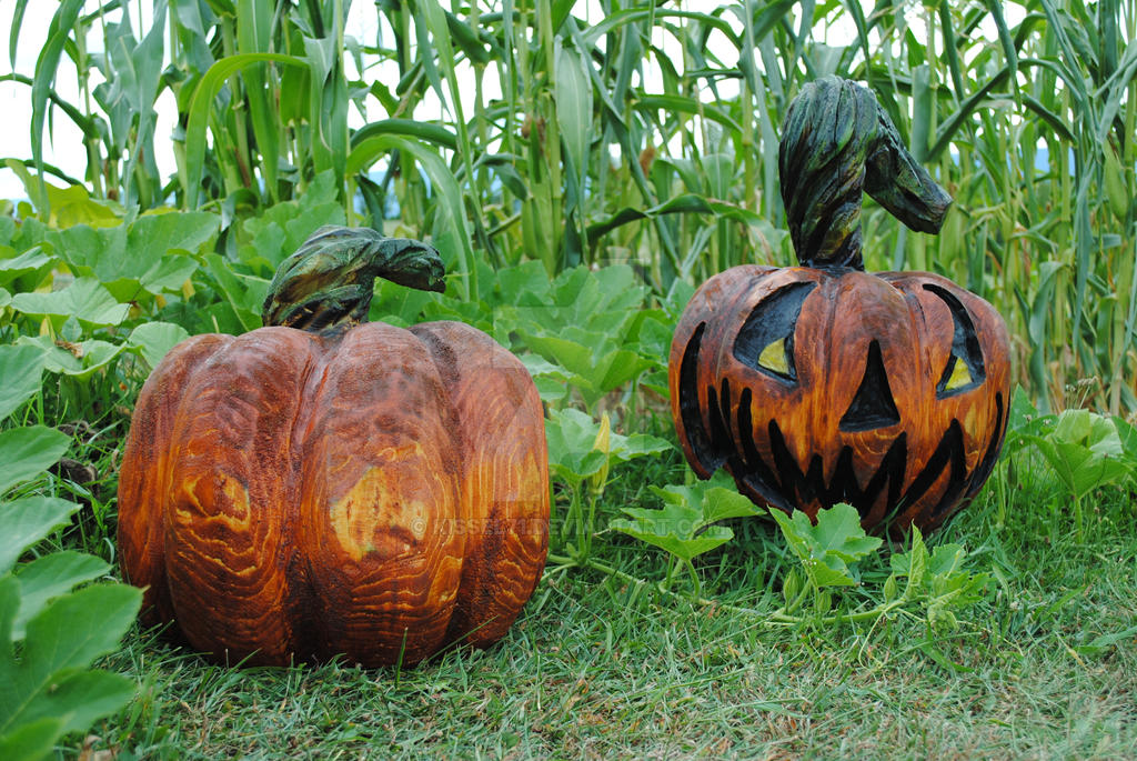 Wooden pumpkins by kissel on deviantart