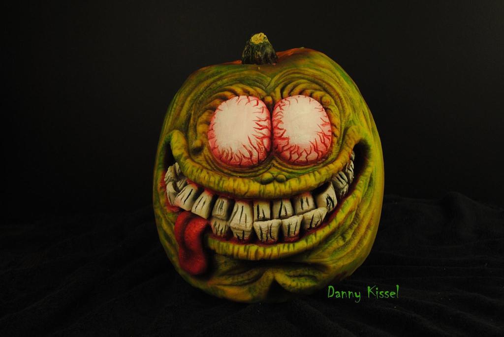 Rat Fink pumpkin tribute by kissel71