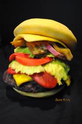 Pumpkin Burger. Made entirely from pumpkin
