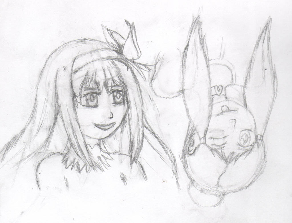 Two sides of a coin  - WIP pencils - Homura by Thy-Robocop