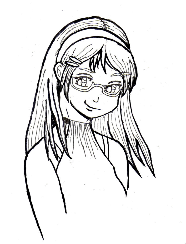 Alessia's smug smile - Inked by Thy-Robocop