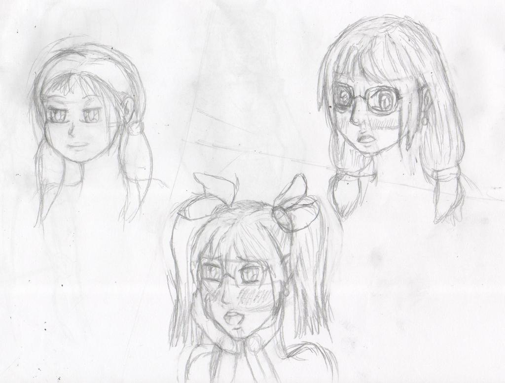 Practice sketch - Faces by Thy-Robocop