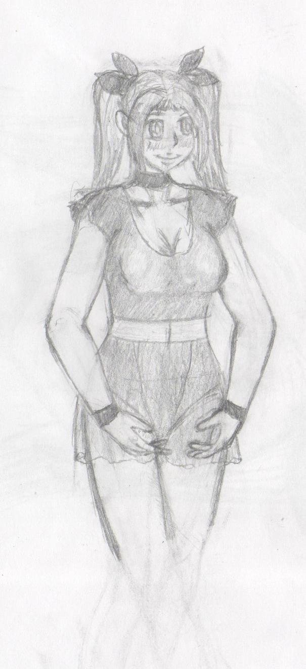 Practice sketch - Ballerina by Thy-Robocop