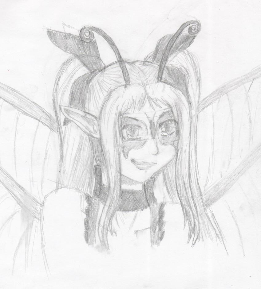 Practice sketch - Farfalla Rossa by Thy-Robocop
