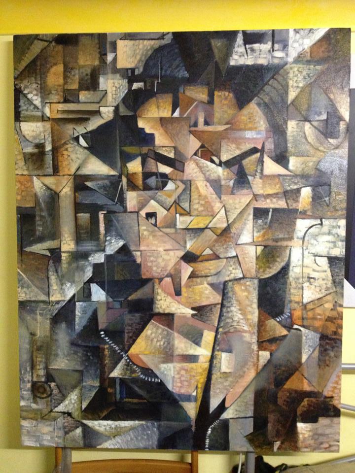 Cubist Portrait Of My Sister Lowana by NLeye10end-0ne