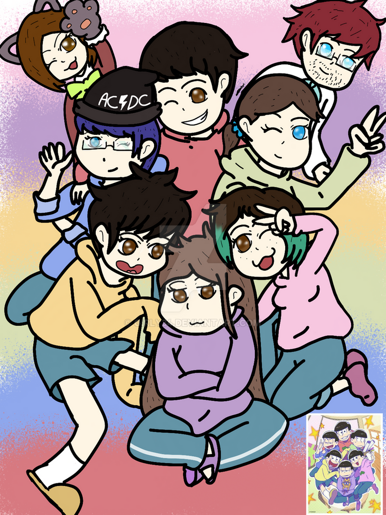 Me and my Friends on Osomatsu san by Girly34