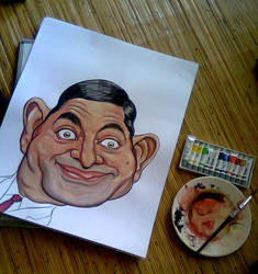 Mr Bean Caricature drawing