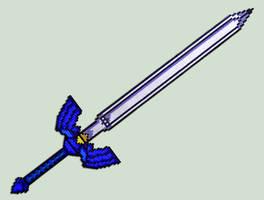 Master Sword Replica - Sprite by XinMyForehead