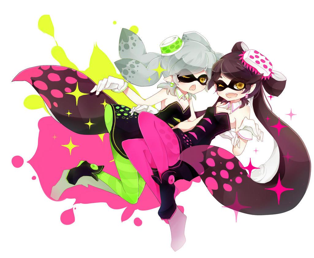 Callie And Marie Wallpaper: Callie+Marie By Nyonyako On DeviantArt