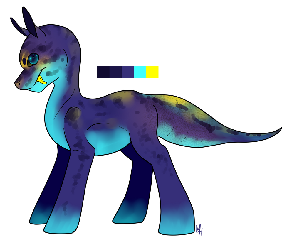 Neon Leopard Gecko Pony Adoptable! CLOSED by Kobayashi-Maruu