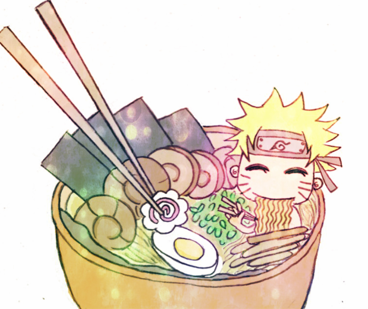 naruto eating ramen coloring pages - photo#12