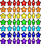 Rainbow Stars sprite sheet by CrayzMario64