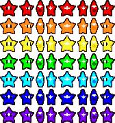 Rainbow Stars sprite sheet by CrayzMario64