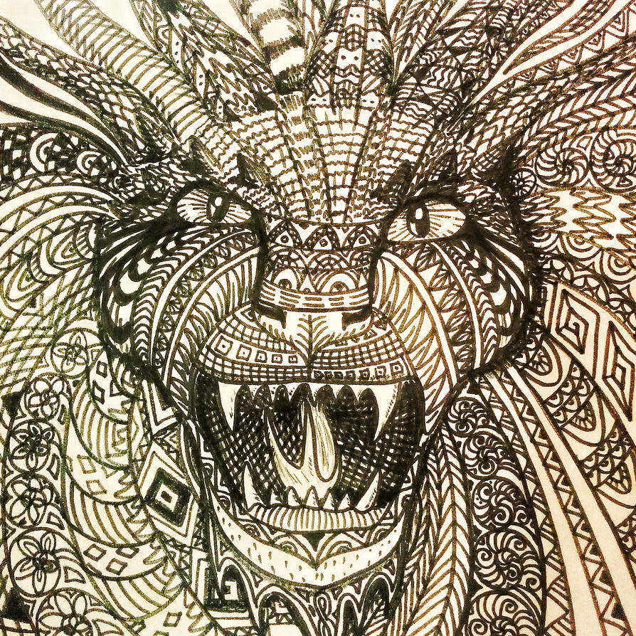 Rage of Mandala Dragon by LussyLion
