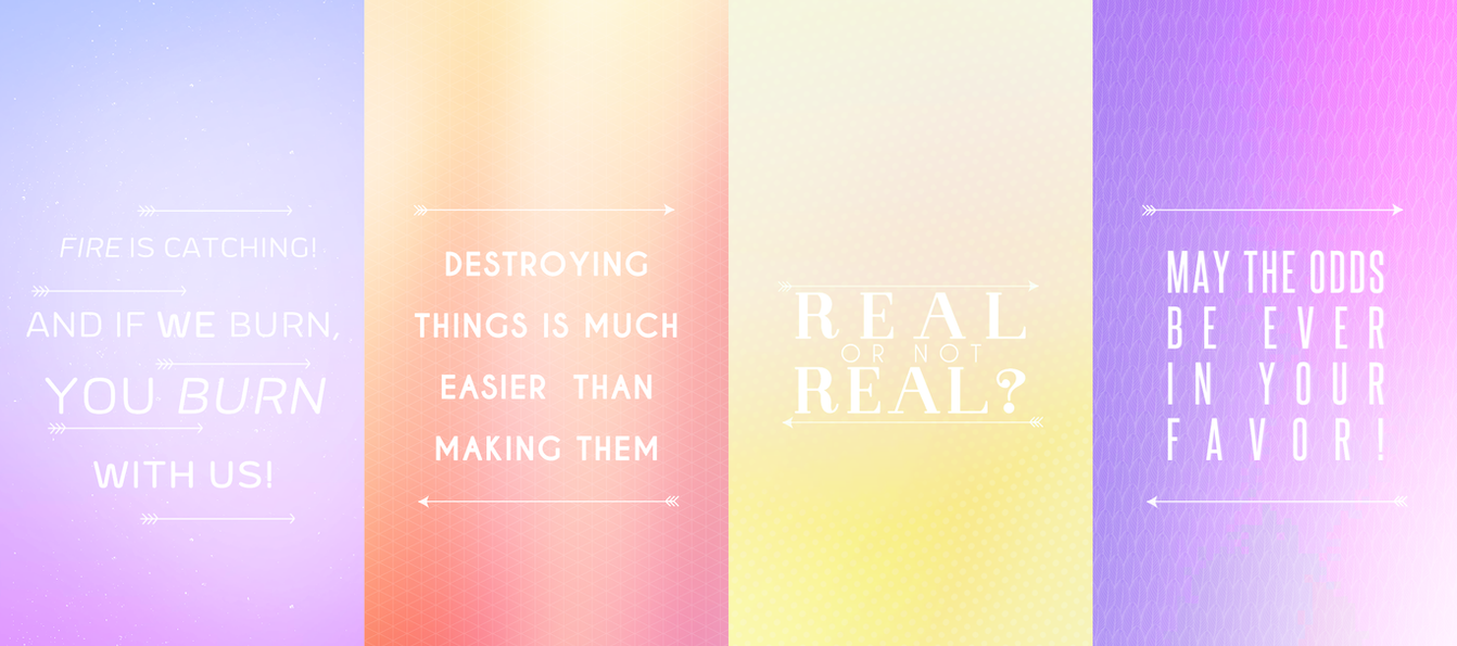 THE HUNGER GAMES TRILOGY QUOTES/PHONE WALLPAPERS by tvm-resources