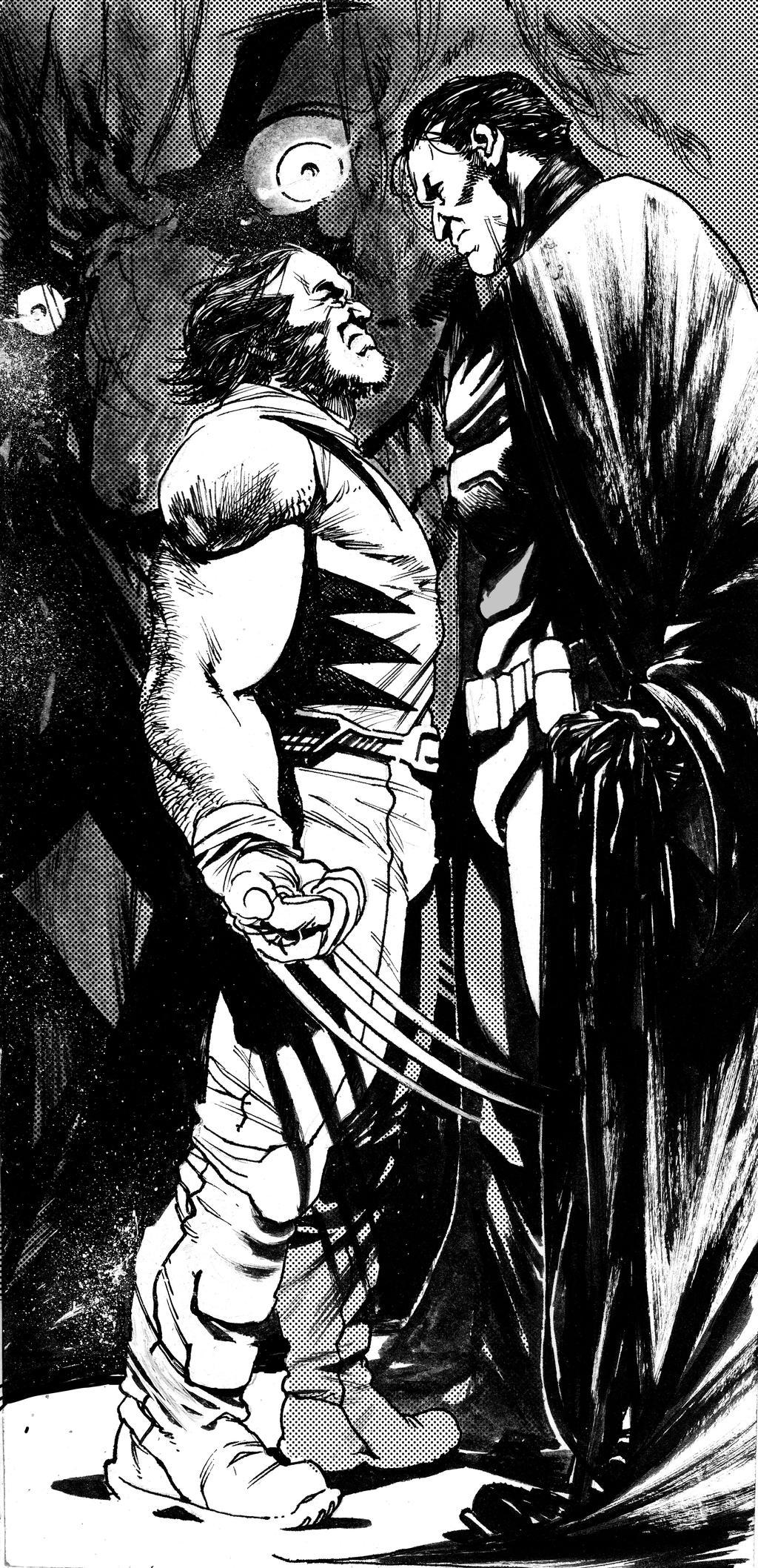 Wolverine and Batman by DEVMALYA