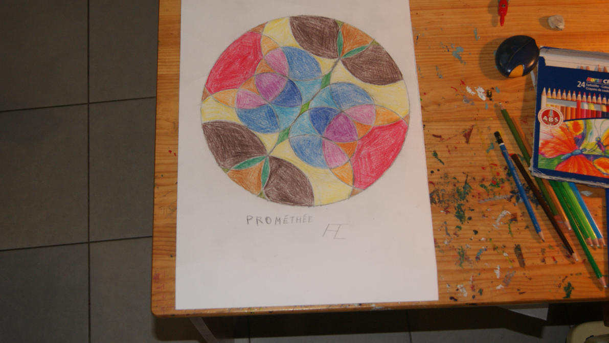 Mandala multicolore by Loki7z