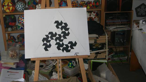 Fractale en forme de triskele