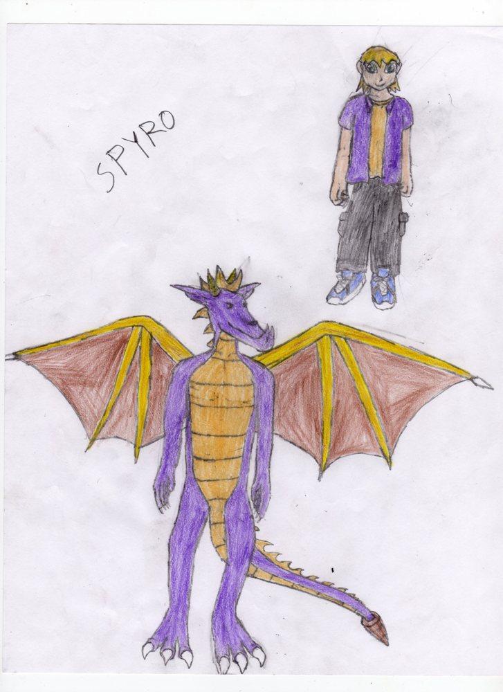 Spyro in ADJL style by DakanMX