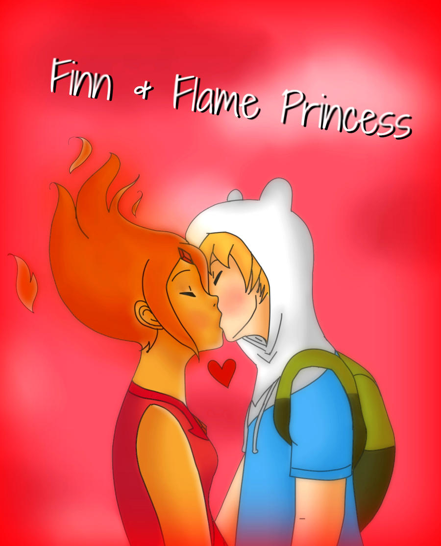 Finn and Flame Princess kiss! by AndiScissorhands on ...   Adventure Time Finn And Flame Princess Kiss