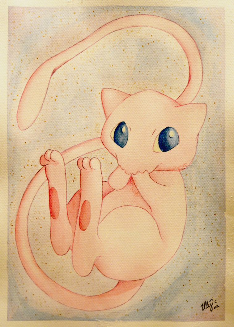 Watercolour Mew by ElzieBanana
