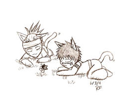renji and shuhei chibis by feerl