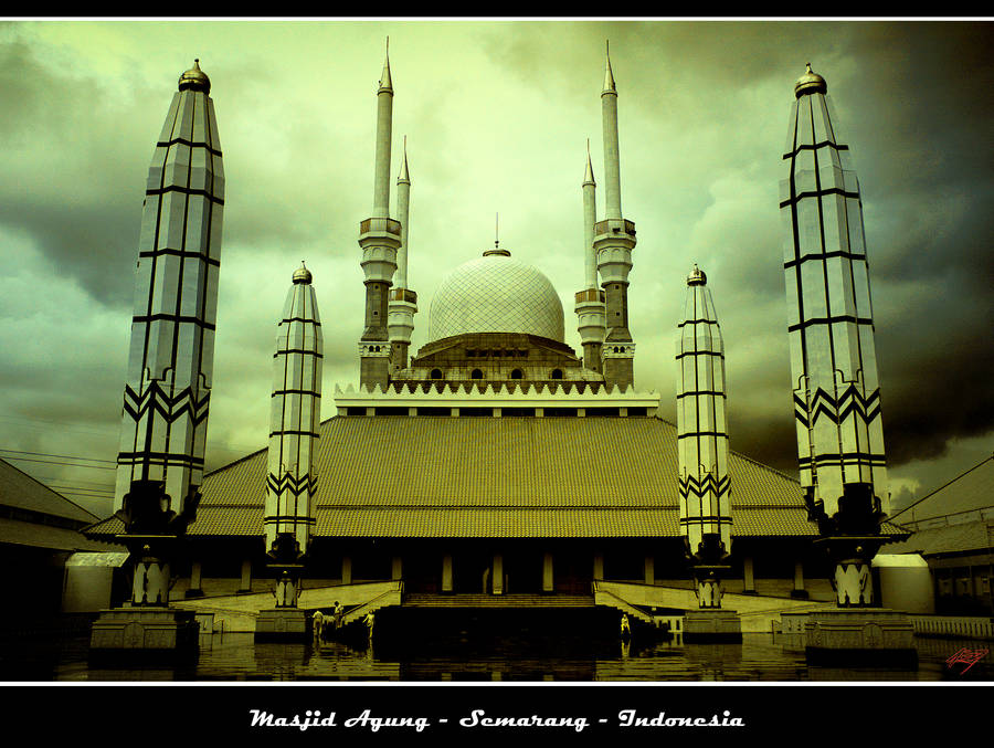 Masjig Agung Great Mosque by neoxavier