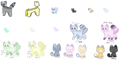 unsold adopts [SOME ARE FREE!!!] (12/18 open)