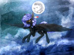 [MLP] (FanArt) Cloudy Night/HoneyBee [+SpeedPaint]