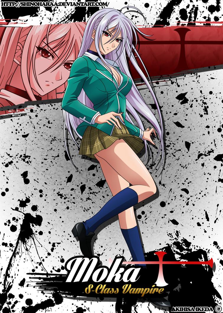 Moka Akashiya -Vampire- by Shinoharaa on DeviantArt