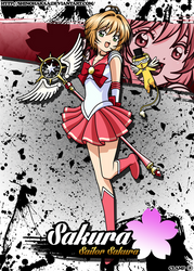 Sailor Sakura and Tuxedo Kero by Shinoharaa
