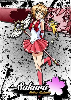 Sailor Sakura and Tuxedo Kero