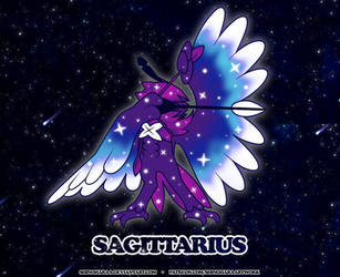 Sagittarius Constellation - Decidueye by Shinoharaa