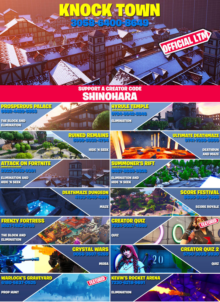 Code -Shinohara-! Knock Town LTM is NOW AVAILABLE!