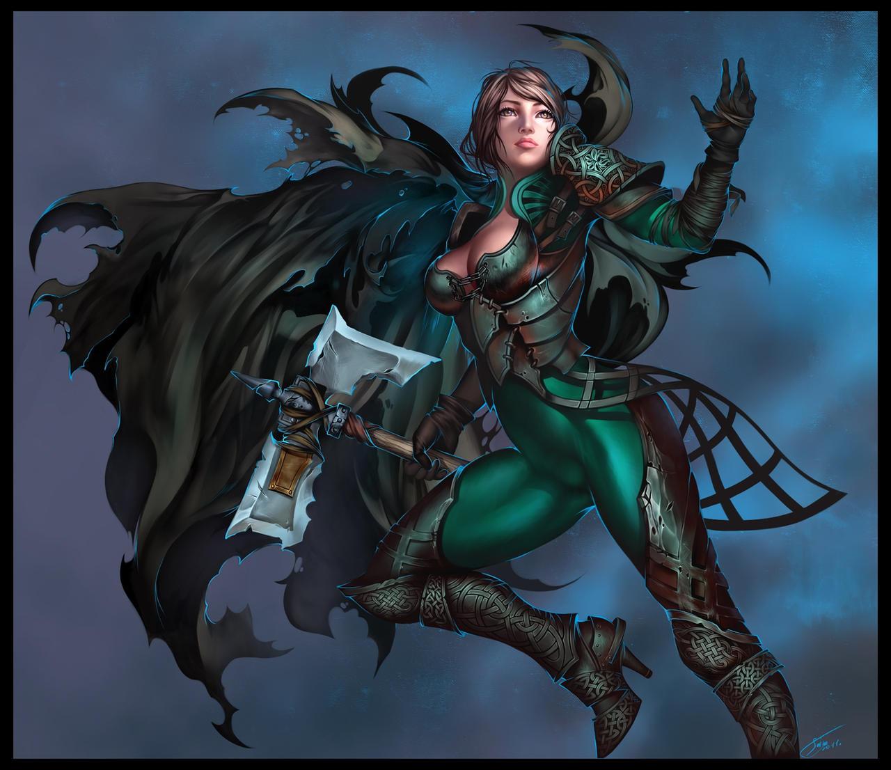 Wallpaper Most Stylish Women Warriors In Digital Arts: Celtic Warrior By Sinto-risky On DeviantArt