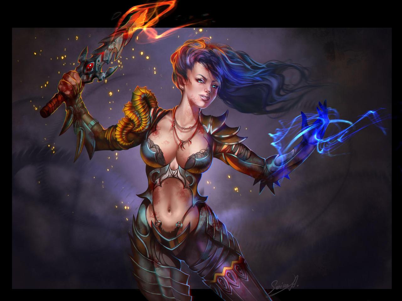 Dragon woman by Sinto-risky
