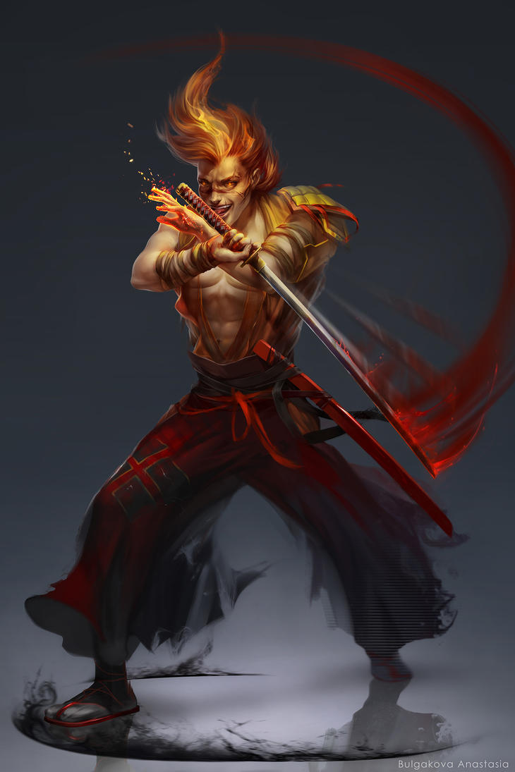 Taro (fire samurai) by Sinto-risky on DeviantArt