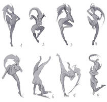 Poses for new art by Sinto-risky