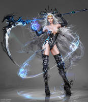 Night Shadow woman by Sinto-risky