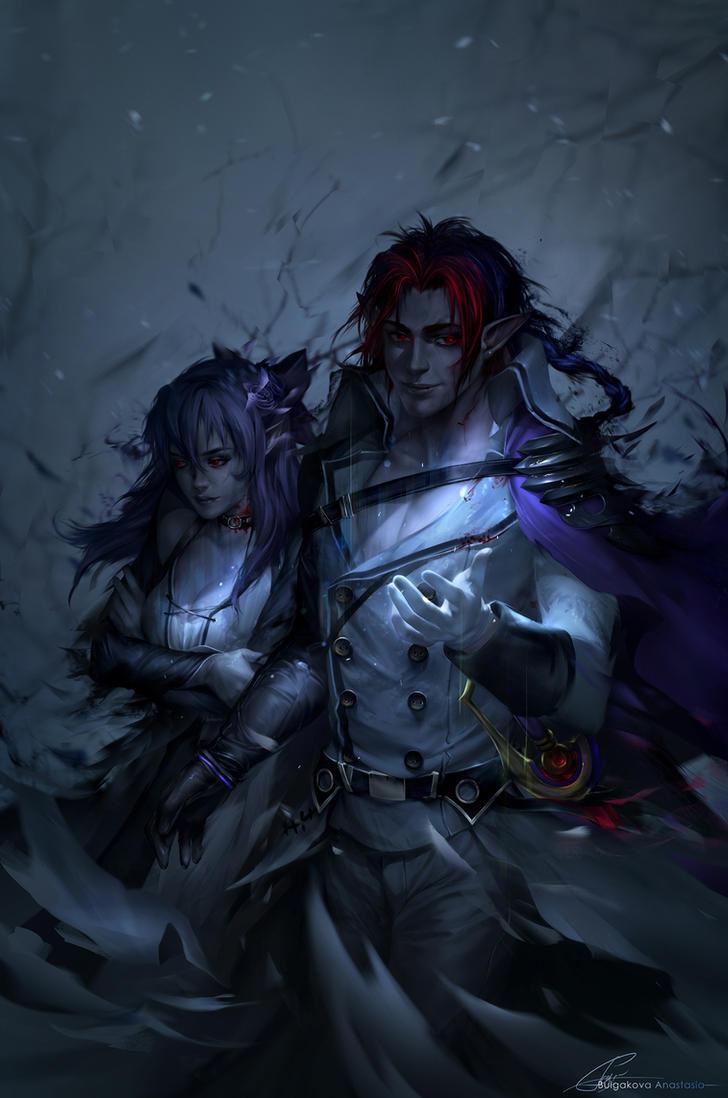 Owari no Seraph: Crowley/Shinoa by Sinto-risky