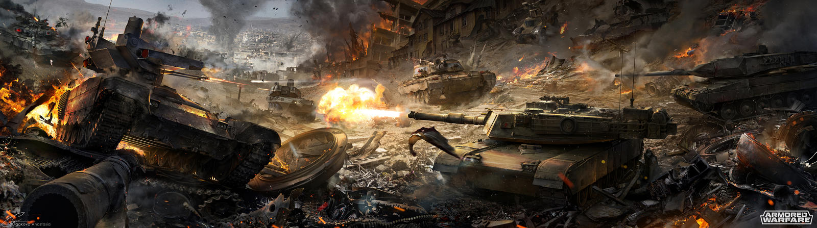 Tank battle by Sinto-risky
