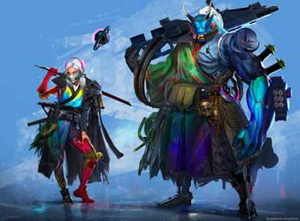 Samurai vs Shinobi contest: Shinobi by Sinto-risky