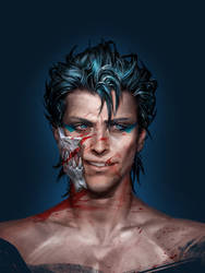 Bleach: realism. Grimmjow. by Sinto-risky
