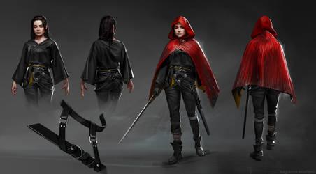 Character design: Saya. 1st stage.